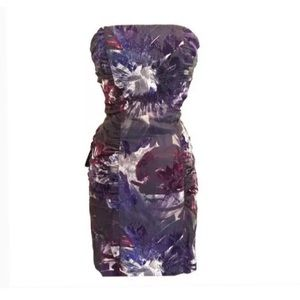 Betsey Johnson purple textured cocktail dress 0